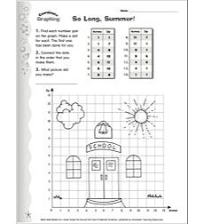 So Long, Summer! Graph Art Activity Coordinate Graphing