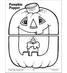 Pumpkin Puppet Pattern by