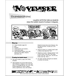 November Bulletin Board Idea Thanksgiving By