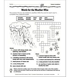 Words for the Weather-Wise (Science Vocabulary): Grade 3 Vocabulary