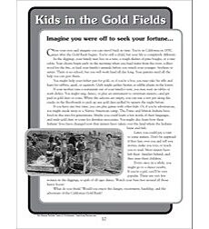 Kids in the Gold Fields: Nonfiction Passage and Short Test