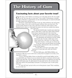 The History of Gum: Nonfiction Passage and Short Test
