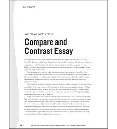 Compare and Contrast Essay: ELL Writing Activity