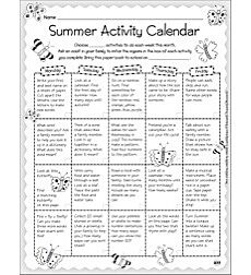 Monthly Ideas: Summer - Activity Calendar & Stationery
