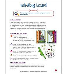 File-Folder Game - Measurement: Inch-Along Lizard (measuring in inches)