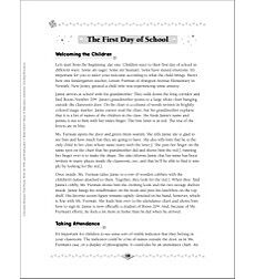 The First Day of School: Class Routines for PreK & K