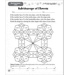 Kaleidoscope of Flowers (Decimal Place Value): Scholastic Success With Math (Grade 4)