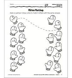 Mitten Matchup (Adding/Subtracting through 10): Scholastic