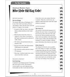 Summarizing (Who Stole Old King Cole?): Hi-Lo Comprehension-Building Mini-Mysteries