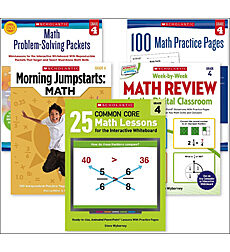 Math Skill-Builder Set: Grade 4