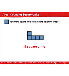 Area: Counting Square Units: Math Lesson