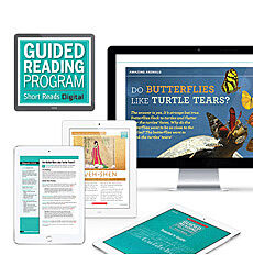 Guided Reading Short Reads Digital Fiction Grade K-6 - Medium School
