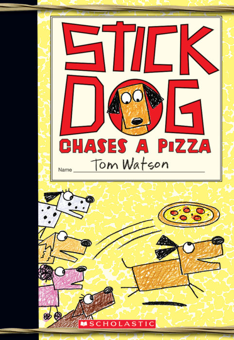Stick Dog: Stick Dog Chases a Pizza