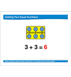 Math Review: Add Equal Numbers, Hundred Chart, Skip Counting