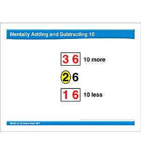 Math Review: Mentally Add/Subtract 10, Expanded Notation, Hundred Chart
