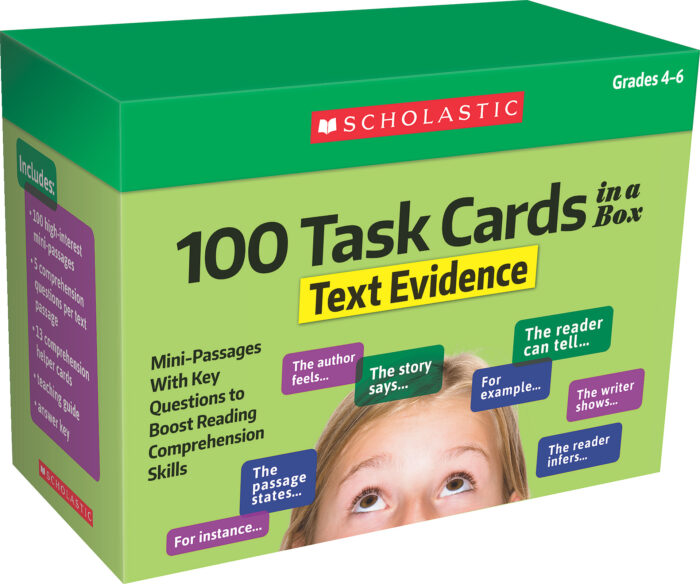 100 Task Cards in a Box: Text Evidence