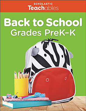 Back to School Grades PreK-K Pack