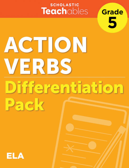 Action Verbs Grade 5 Differentiation Pack