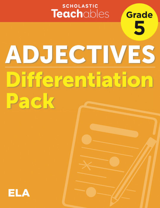 Adjectives Grade 5 Differentiation Pack