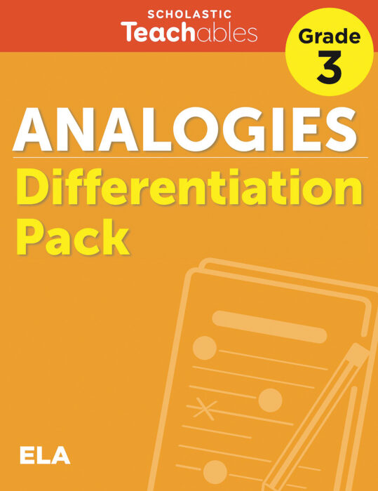 Analogies Grade 3 Differentiation Pack