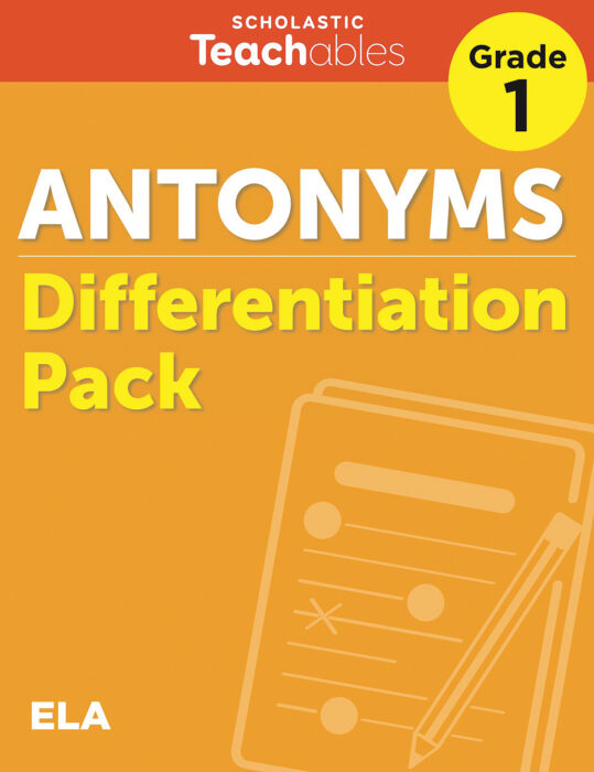 Antonyms Grade 1 Differentiation Pack