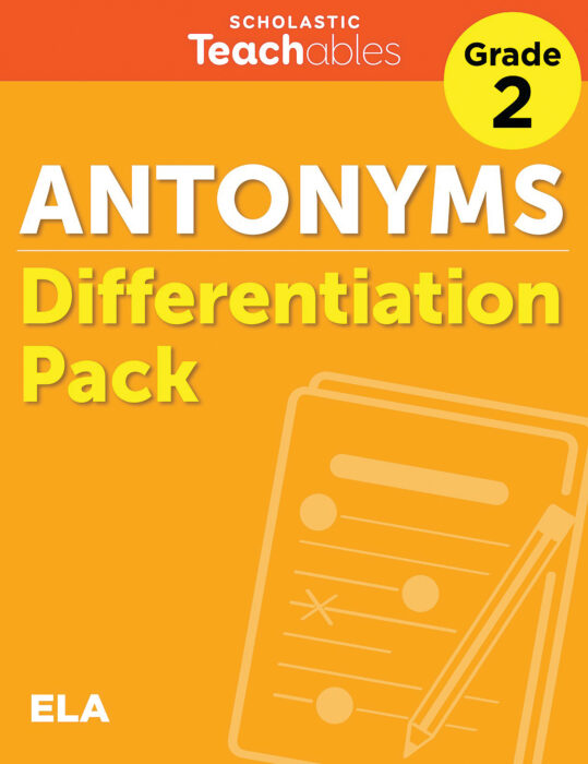 Antonyms Grade 2 Differentiation Pack