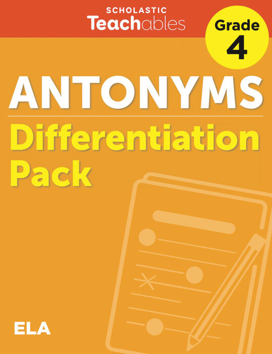 Antonyms Grade 4 Differentiation Pack