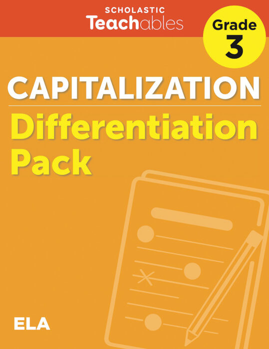 Capitalization Grade 3 Differentiation Pack