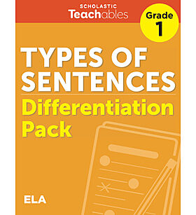 Types of Sentences Grade 1 Differentiation Pack