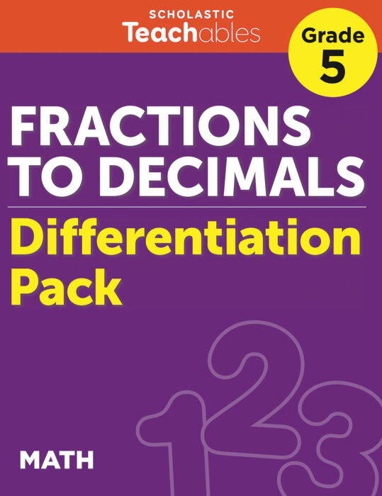 Fractions to Decimals Grade 5 Differentiation Pack