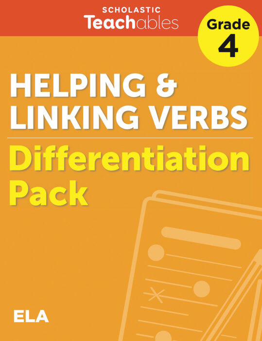 Helping & Linking Verbs Grade 4 Differentiation Pack