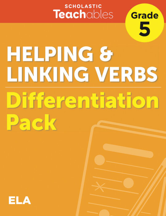 Helping & Linking Verbs Grade 5 Differentiation Pack
