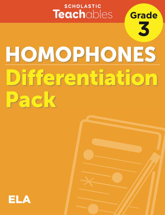 Homophones Grade 3 Differentiation Pack