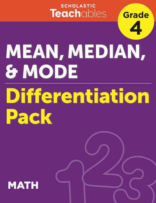 Mean, Median, and Mode Grade 4 Differentiation Pack