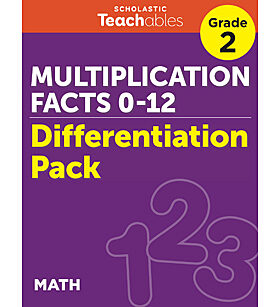 Multiplication Facts 0-12 Grade 2 Differentiation Pack