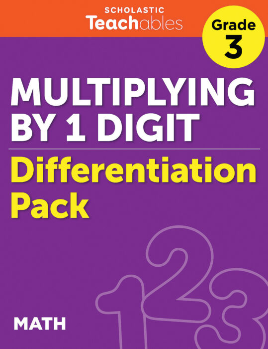 Multiplying by 1 Digit Grade 3 Differentiation Pack