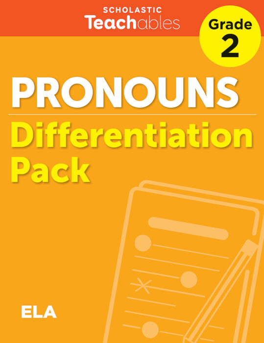 Pronouns Grade 2 Differentiation Pack