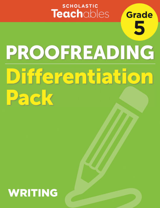 Proofreading Grade 5 Differentiation Pack