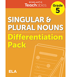Singular & Plural Nouns Grade 5 Differentiation Pack