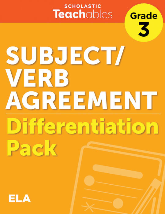 Subject/Verb Agreement Grade 3 Differentiation Pack