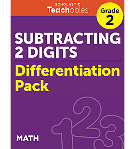 Subtracting 2 Digits Grade 2 Differentiation Pack