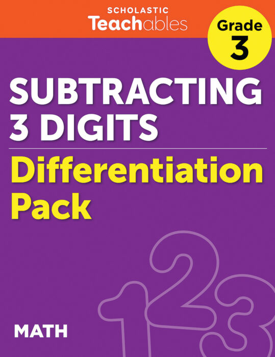 Subtracting 3 Digits Grade 3 Differentiation Pack