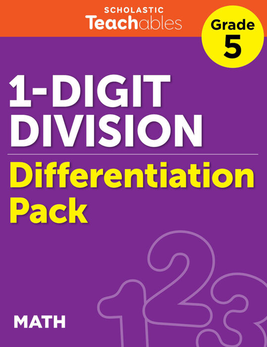 1-Digit Division Grade 5 Differentiation Pack
