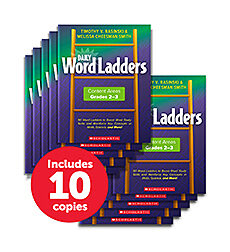Daily Word Ladders Content Areas Grades 2-3 10 copy pack
