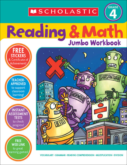 Reading and Math Jumbo Workbook Grade 4 by Jennifer Jacobson ...