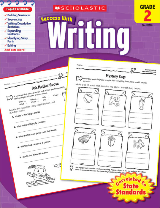 Scholastic Success With Writing: Grade 2 by Scholastic