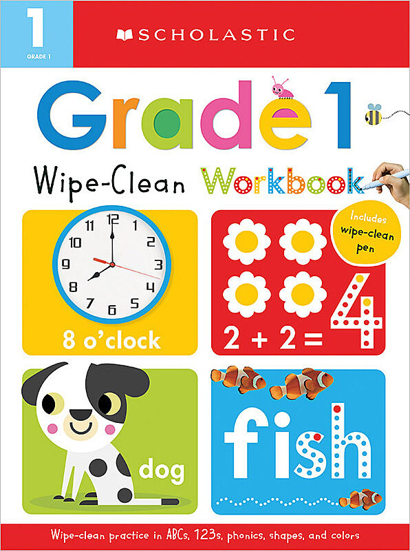 Scholastic - Wipe Clean Workbooks - Grade 1