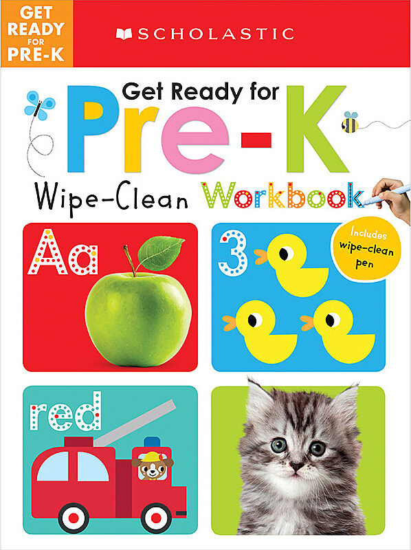 Scholastic - Wipe-Clean Workbooks: Get Ready for Pre-K