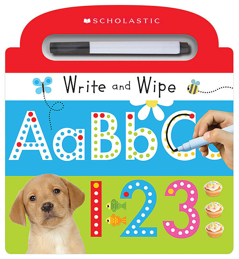 Scholastic - Write and Wipe ABC 123