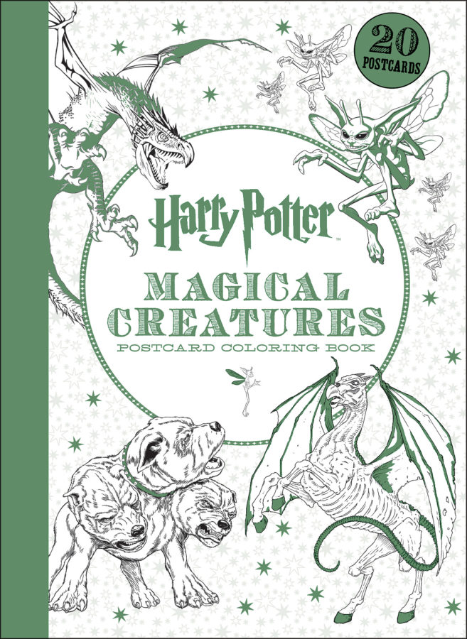 Scholastic - Harry Potter Magical Creatures Postcard Coloring Book